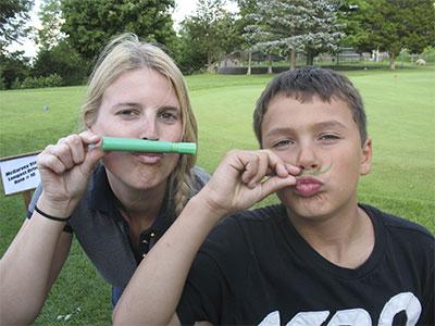 Golf-moustachios