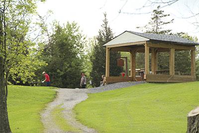 Golf-rain-shelter