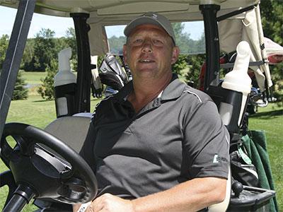 Golfer-in-cart
