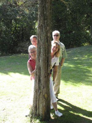 Behind-a-tree