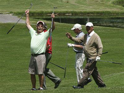 Golfers-happy